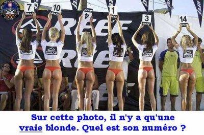 blondes écervelées..!