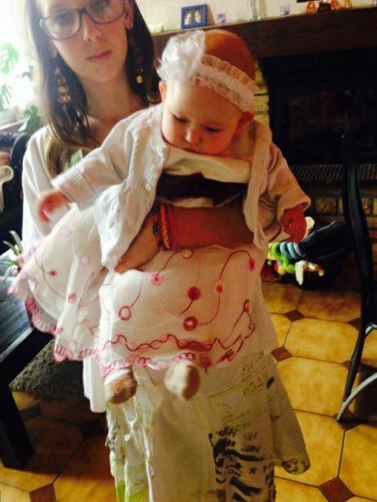 Moi et ma deuxième petite nièce Kelly
