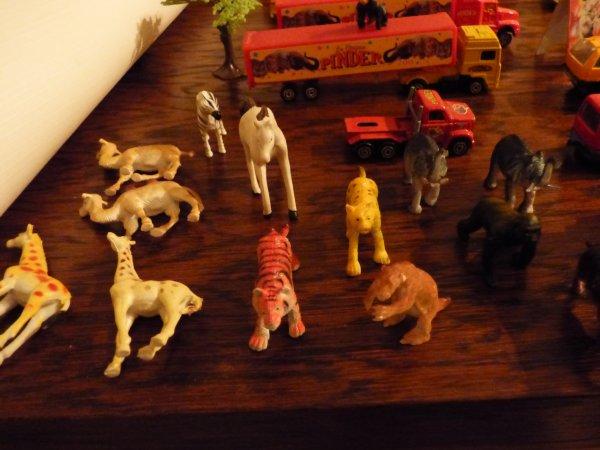 les filles ce soir je ne suis pas dans les poupees mon fils va ce separer d un lot de vehicules + personnages + animaux un ami blogueur est passionne donc je lui est promis des photos avant que le lot part sur un celebre site d encheres E...