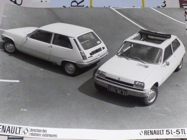 photo renault 5 l  et TL 1972