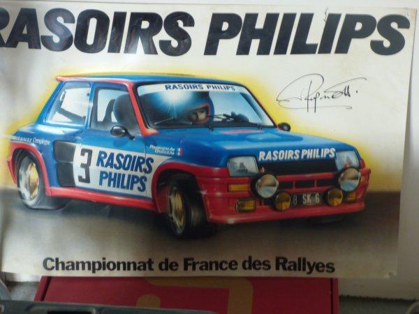 Voici mon affiche collector dedicacee par  le pilote Jean Ragnotti