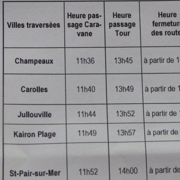 Notre periple de samedi ..................Tour de france a  Carolles