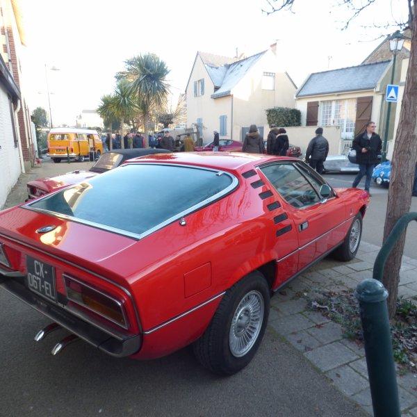 voici  ma preferee a Saint Briac Cette  Alfa Romeo  Montreal une merveille