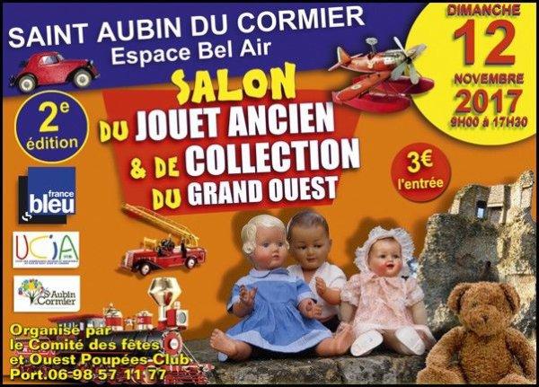 Salon du  jouet ancien et de collection  Saint Aubin du cormier  le 12 Novembre 2017..................QUI    Y  VAS???????             Normalement j y serais avec ma renault 5 bleu