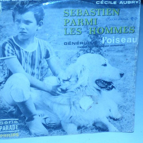 en rangeant mes vinyls...............  bande original Belle et Sebastien L oiseau chanson reprise par Zaze  pour le film
