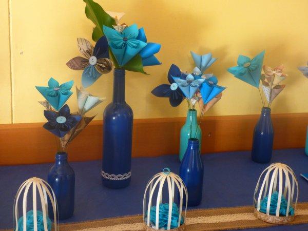 voyez le bouquet de mariee ......................en Origami l art du pliage ma petite belle fille est tres douee