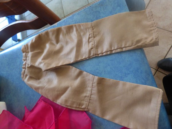 vetements que les cathies avait sur le dos  manque 2 tenues qui sont a laver tenues presentation 1979  et tenue en lamee