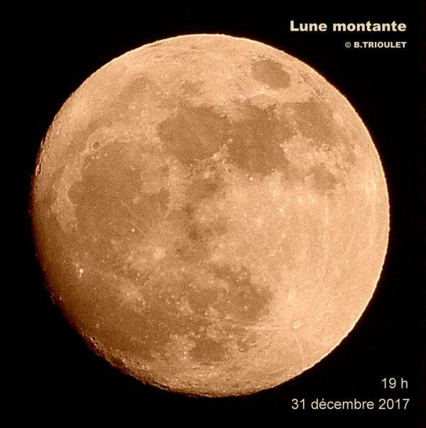 LUNE MONTANTE - 31 décembre 2017 - 19 h