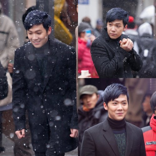 lee hong ki sur le tournage de son new drama !!