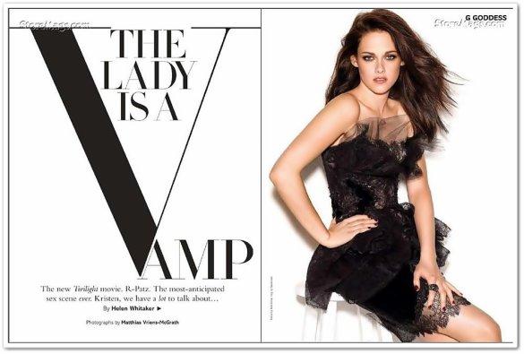 Kristen est apparue dans le magazine GLAMOUR du mois de Decembre .