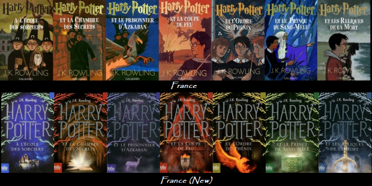 Couvertures Saga Harry Potter