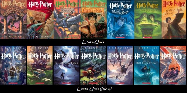 Couvertures Saga Harry Potter