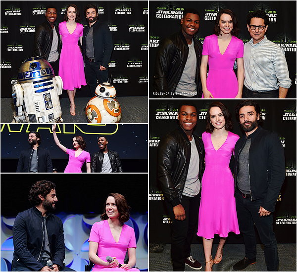 — DAISY A LA  STAR WARS CELEBRATION ET AU DEFILE BURBERRY- 16 AVRIL 2015.   Ecrit par Marie le 2 mai 2015 - catégories : apparitions publiques.