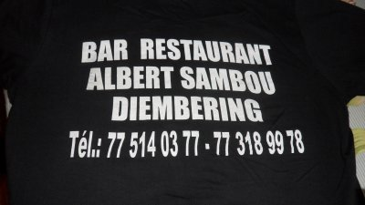 LE BAR RESTAURENT ALBERT SAMBOU DIEMBERING  CASAMANCE SENEGAL