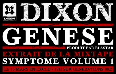 GENESE (PRODUIT PAR BLASTAR) EN EXCLU SUR GENERATIONS 88.2 LE 15 MARS