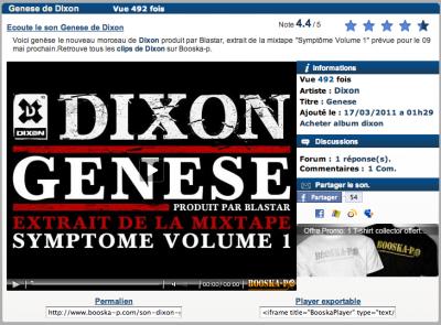 """ECOUTE """"GENESE"""" LE NOUVEAU TITRE  DE DIXON (PROD. By BLASTAR)"""