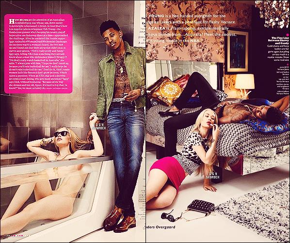 . . Découvrez des photos provenant du « CG Magazine » où elle a posé avec Nick Young Iggy Azalea s'est montré à la fois heureuse, belle, sexy et complice aux côtés de son petit-copain Nick Young, joueur de basketball pour les Lakers .