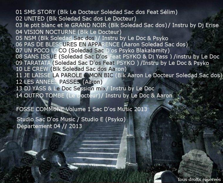FOSSE COMMUNE / 13 DJ YASS & Le Doc SessionMix /Instru by Le doc (2013)