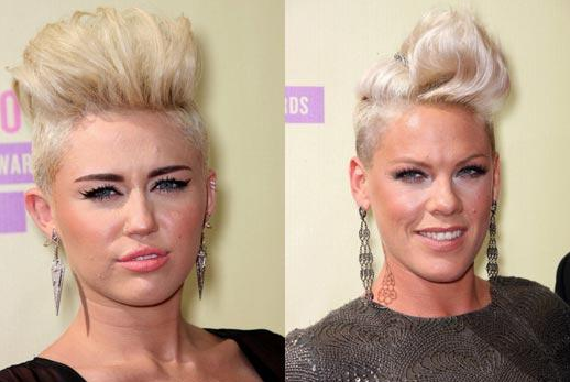 Lors des MTV Vidéo Music Award's, Miley Cyrus avait mis le paquet pour son brushing ! J'ai trouvé qu'elle ressemblait comme deux gouttes d'eau à Pink, Je vous montre tout !