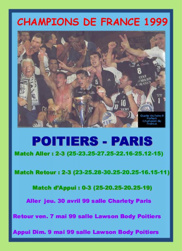 Les titres du Poitiers Volley