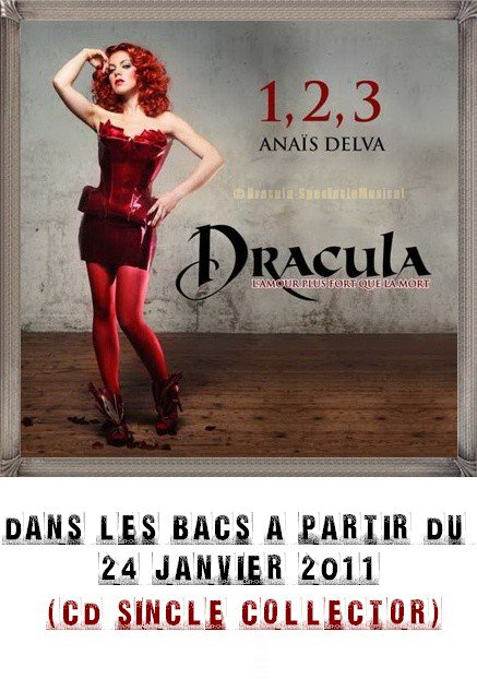"1,2,3 premier single de Dracula ""L'amour plus fort que la mort"""