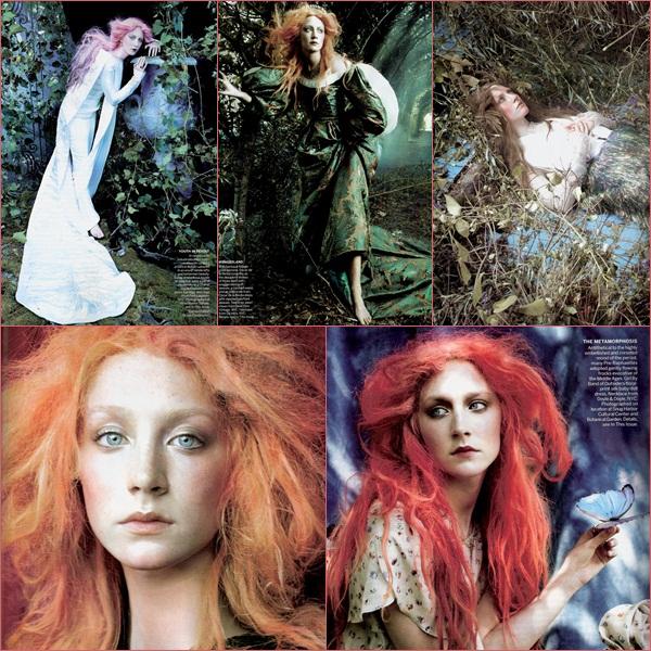 Saoirse est apparu dans le magazine Vogue avec un shoot totalement différent qu'elle a pu faire auparavant