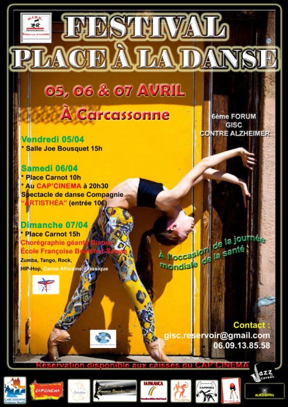 Festival Place à la Danses ,à l'Occasion de la Journée Mondiale de la santé:  Programme