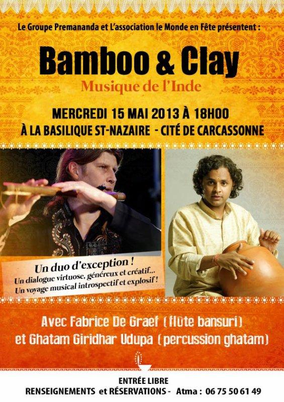Concert de musique sacrée indienne « Bamboo § Clay