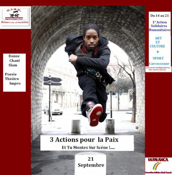"""rendez vous  au Village des Associations à Carcassonne """"Stade Albert Domec au stand GISC  N° 130 pour plus d'info de 10H30 a 18H00"""