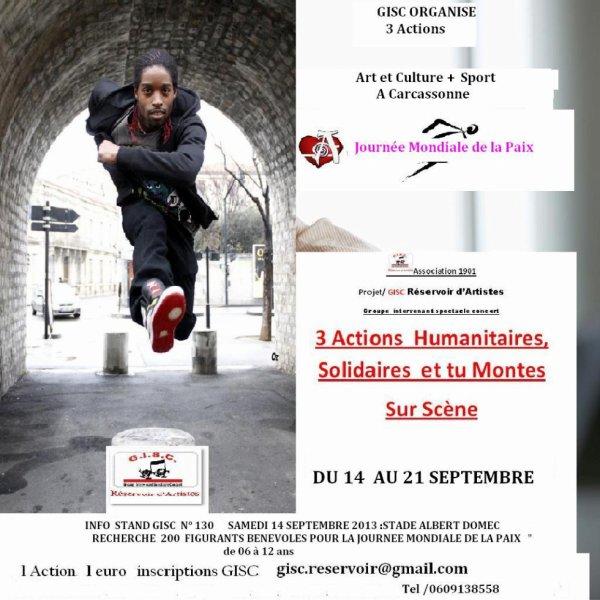 Gisc réservoir d'Artistes au village des associations Samedi 14 Septembre de 10h à 12h - Espace Albert Domec