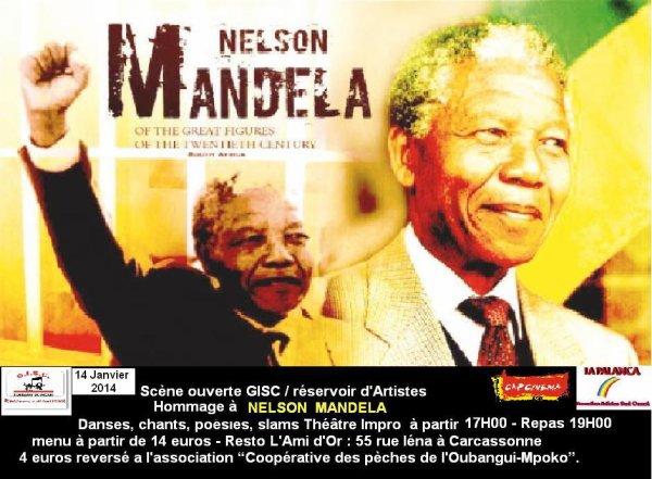 Thème de la Journée mondiale pour la paix 2014   :en hommage à Nelson Mandela   :Samedi 04 Janvier 2014 de 17H00 à 23H00