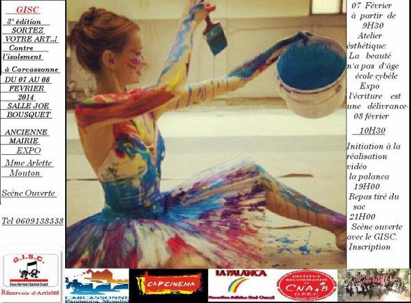 Samedi 08 février 2014 de17H00 à 18H30: Initiation à la réalisation vidéo avec l'association LA PALANCA« Promotion Artistes Sud-ouest »