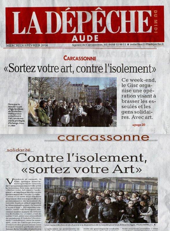 SORTEZ VOTRE ART AVEC LE GISC  Carcassonne