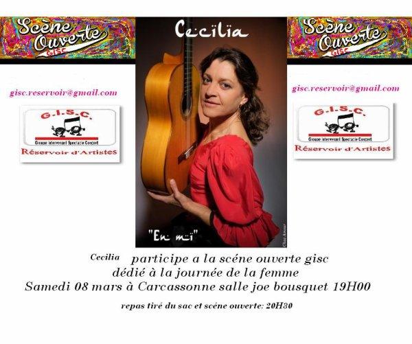 """L'Association GISC """"groupe intervenant spectacle concert """"organise la 2° édition la  Journée de la femme et une Scène ouverte dédié aux femme du monde"""