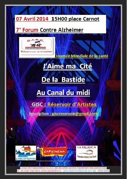 FESTIVAL PLACE A LA DANSE.FRESQUE GEANTE PLACE CARNOT.CARCASSONNE LE 28 ...bientot  07 forum Contre Alzheimer :place carnot le Lundi 07 avril 2014 15H00