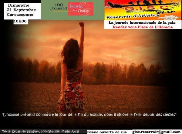 """scènes ouverte  du gisc  réservoir d'artistes"""" des slams  pour sauver la planète  à Carcassonne"""