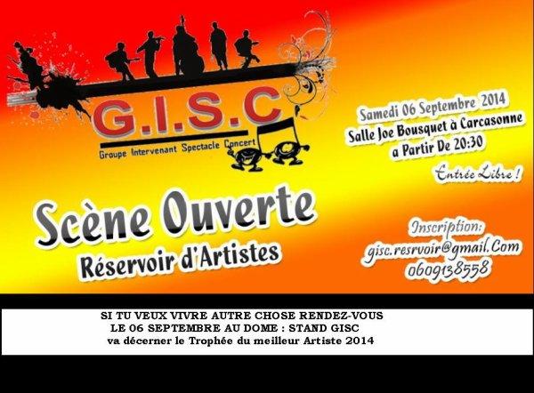 LE GISC AU RENDEZ VOUS DES ASSOCIATION AU DÔME LE 06 SEPTEMBRE 2014       STAND D 24