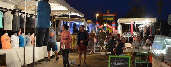 Le Marché Nocturne  à trébes et jazz o canal en images voir lien album photos