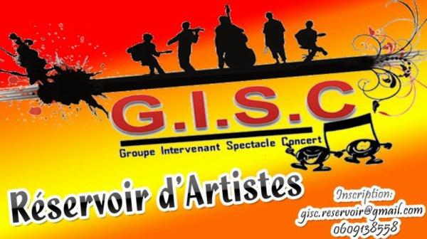 """Association gisc""""groupe intervenant spectacle concert""""  Réservoir d'artistes depuis Novembre 2016"""