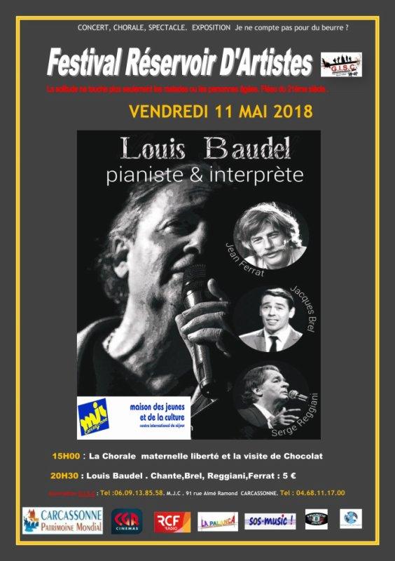 festival Réservoir D'ARTISTES GISC .A l'occasion du 11 ème forum contre l'isolement des personnes dependantes du 27 avril au 13 mai 2018