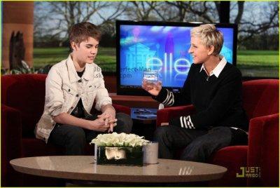 Justin chez Ellen