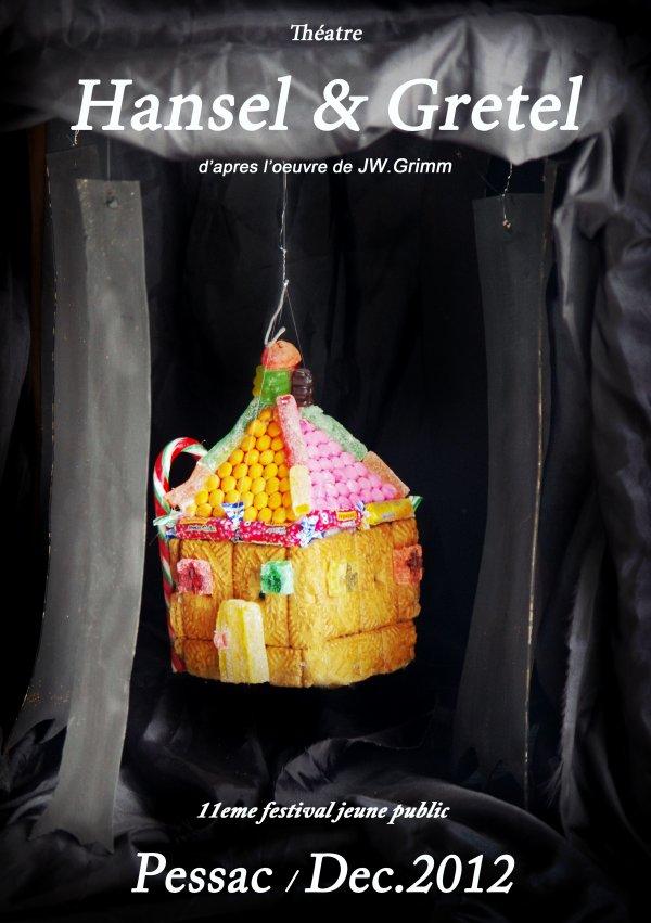 Affiche pour la piece Hansel & Gretel (sujet Art App.)