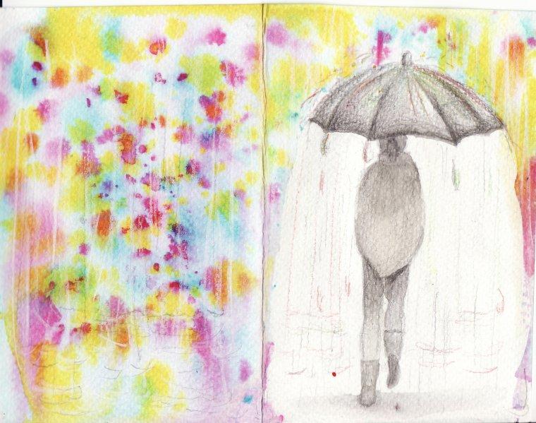 Ma vison de la pluie... un espace coloré où la magie du monde exterieur est la plus visible...