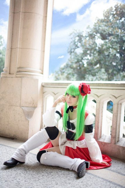 COSPLAY CODE GEASS - C.C. RED DRESS