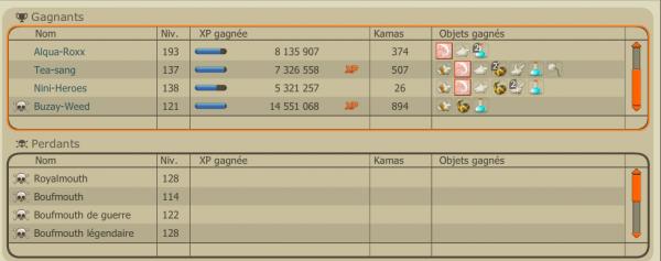 XP , KAMAS , BONUS