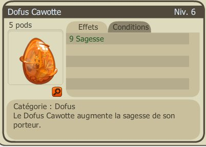 Achat enclos / Les Dofus cawotte une vrai carotte !