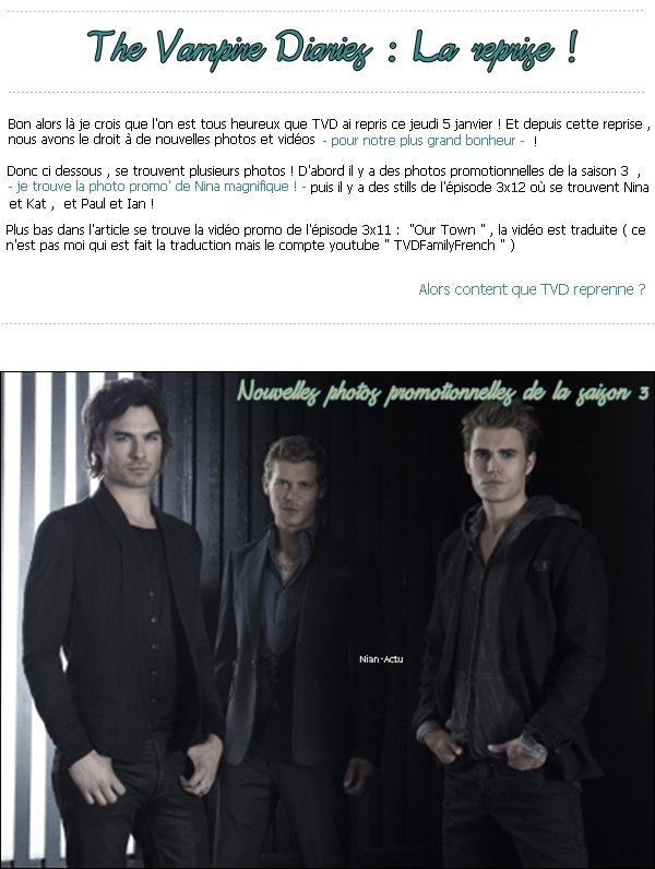 La reprise de The Vampire Diaries !