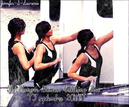 Nouveau Photoshoot de Jennifer + Photo de tournage de Hunger Games: Catching Fire.