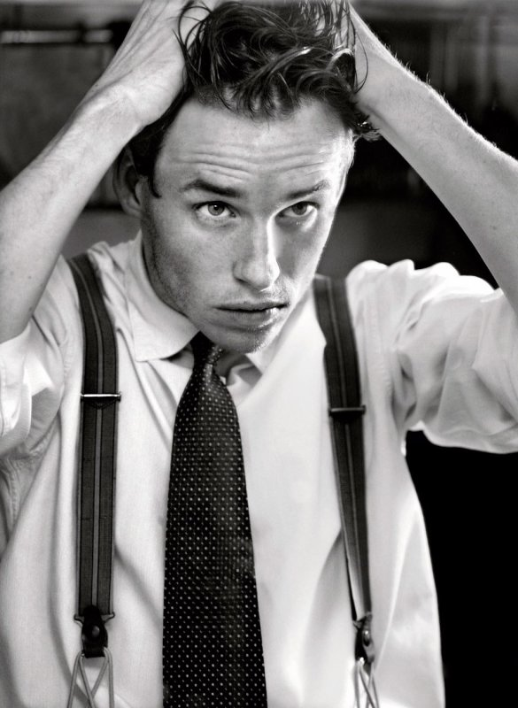 I walk around talking to myself in accents. Usually people look at me like I'm a complete fruit loop. Eddie Redmayne.