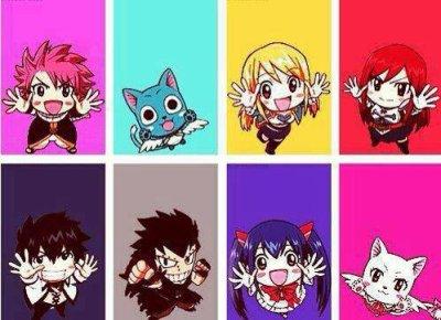 ~ Natsu, Happy, Lucy, Erza, Grey, Gajeel, Wendy et Carla.